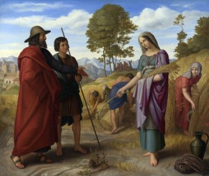 Was Rahab the mother of Boaz, shown in this painting of Boaz and Ruth
